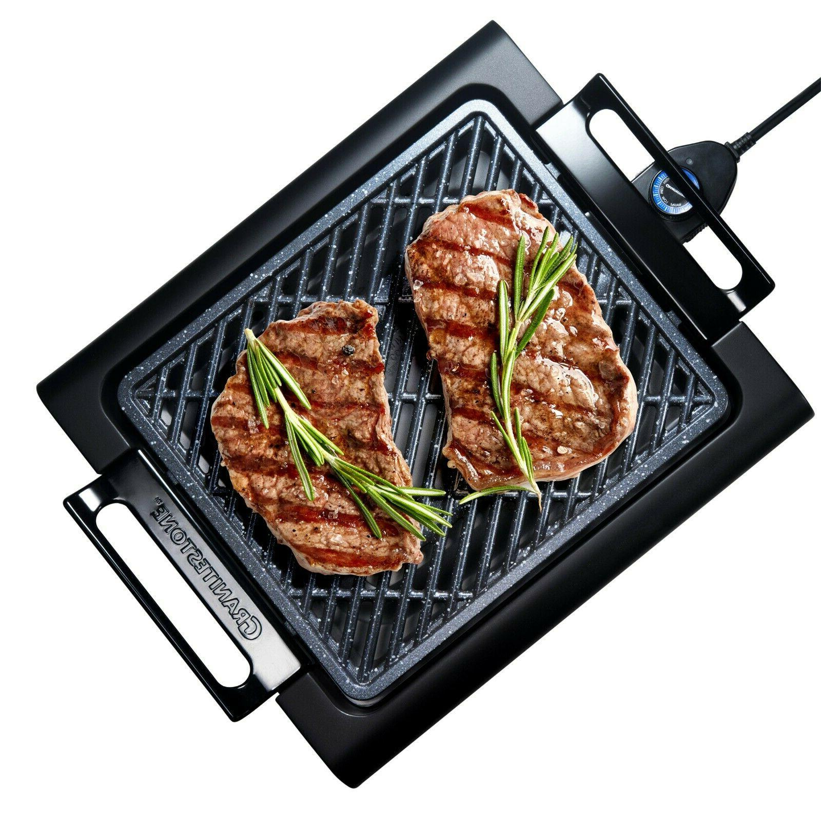 smokeless electric grill with nonstick surface as