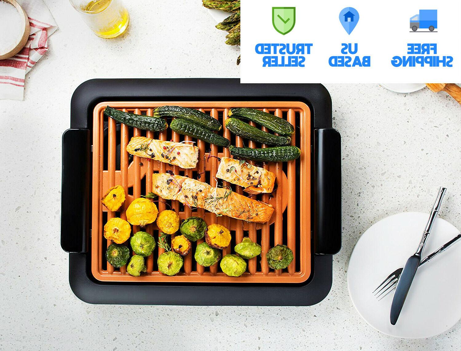 smokeless electric grill xl as seen on
