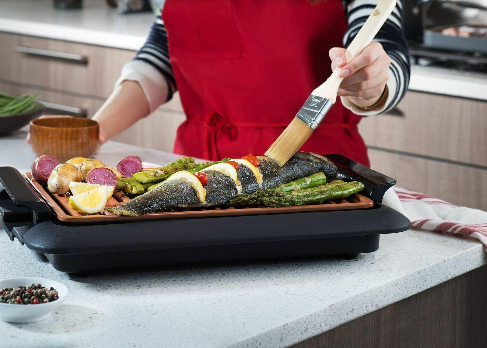 Gotham Smokeless Electric Indoor Grill Portable -As TV