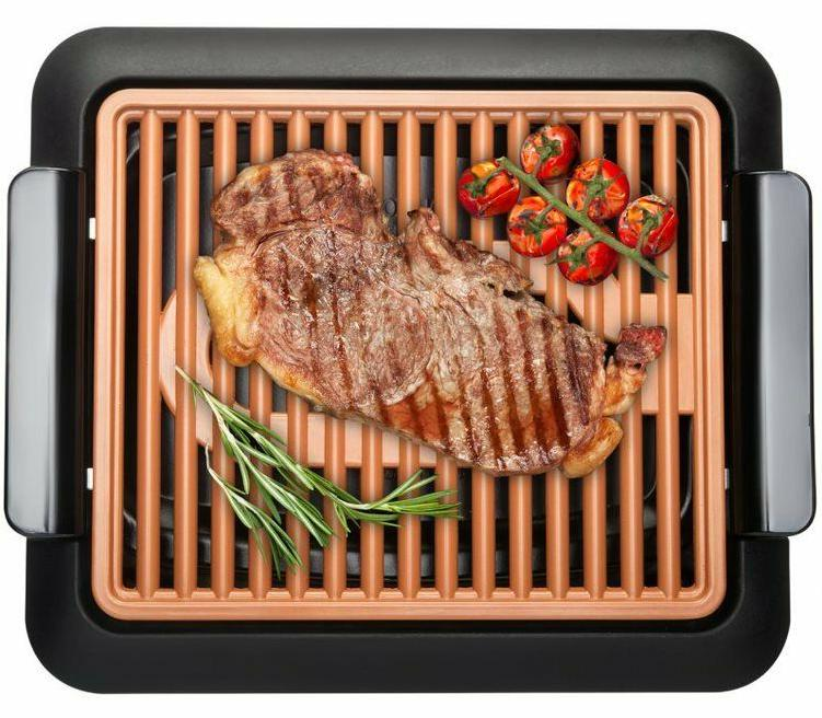 smokeless electric indoor grill nonstick and portable