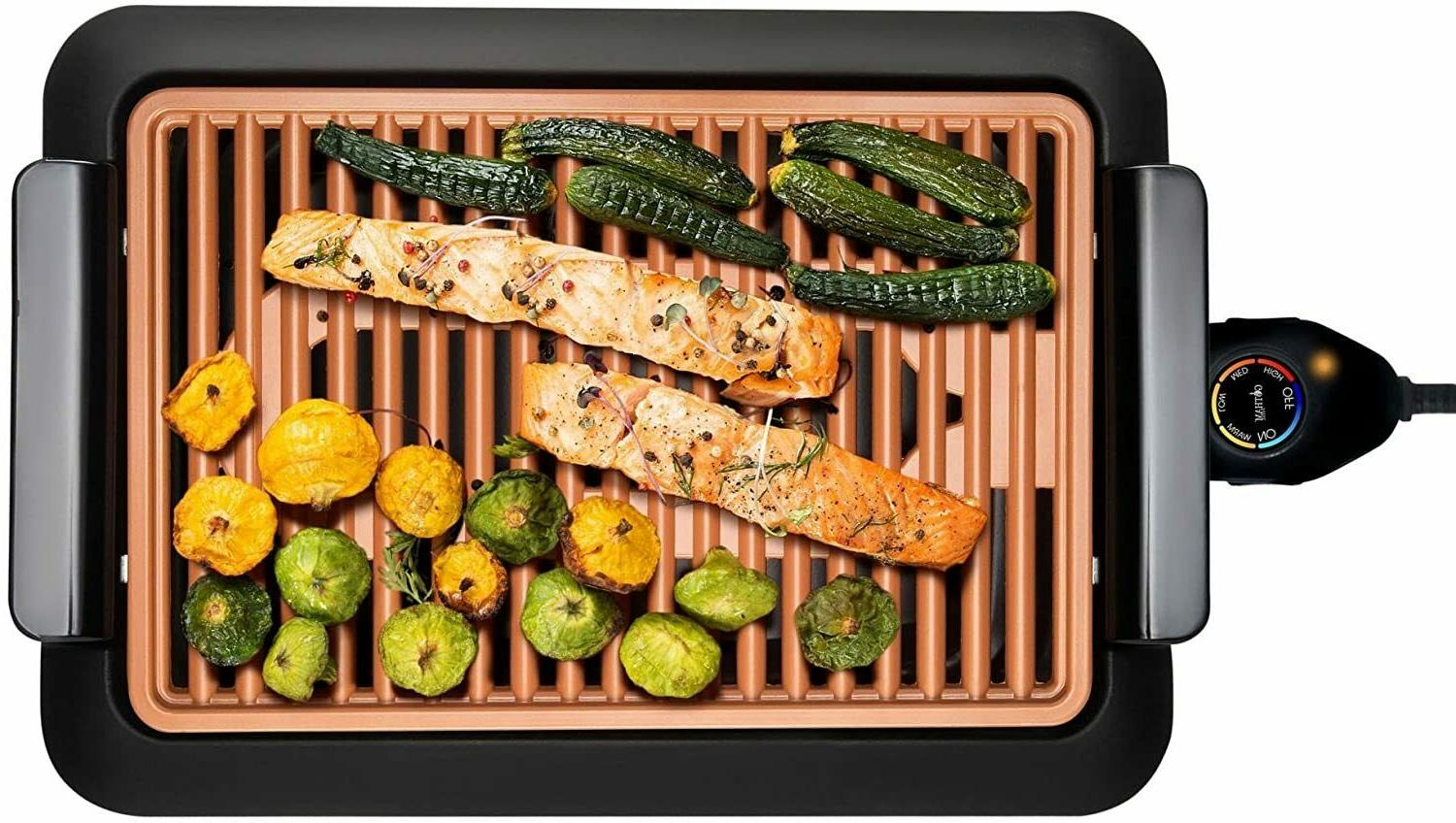 smokeless electric indoor grill nonstick portable free