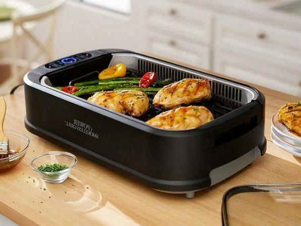smokeless grill electric bbq nonstick kitchen glass