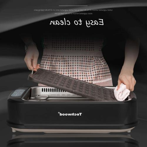 Techwood Smokeless Grill Electric Non-stick BBQ for Indoor/Outdoor, & with
