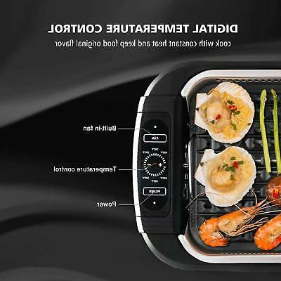 Electric BBQ Plate Portable Indoor Outdoor