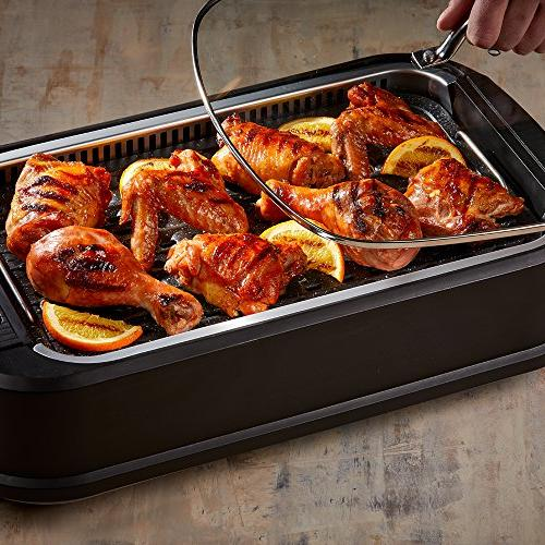 Tempered Interchangeable Griddle and Turbo Smoke Extractor Technology