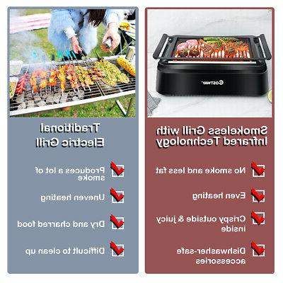 Smokeless Indoor BBQ Grill with Advanced Infrared Zero