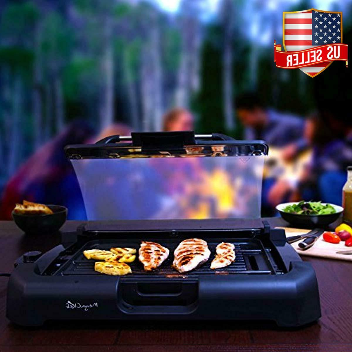Smokeless Electric Grill 1800 Watts Non-Stick Removable w/