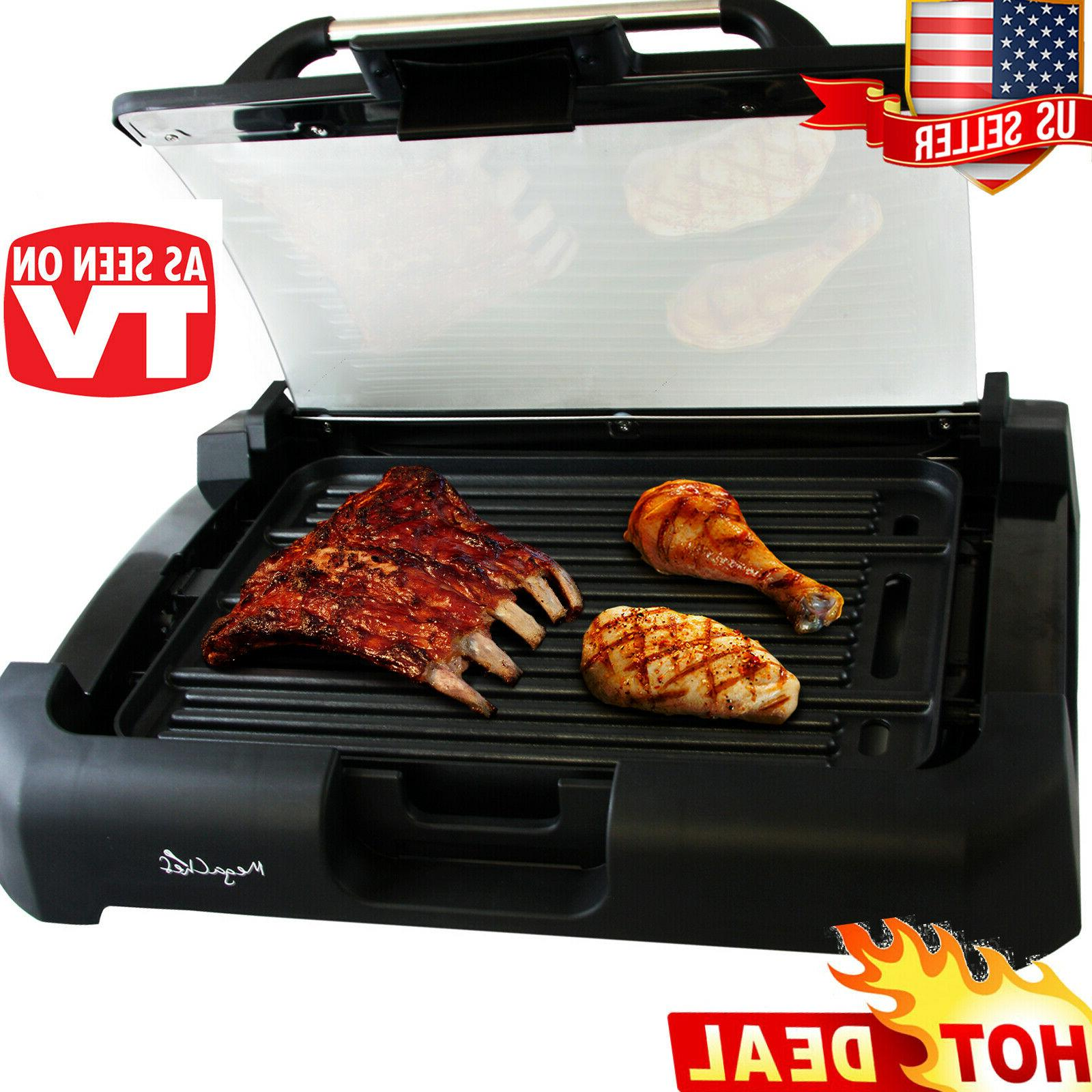 smokeless indoor electric grill 1800 watts non