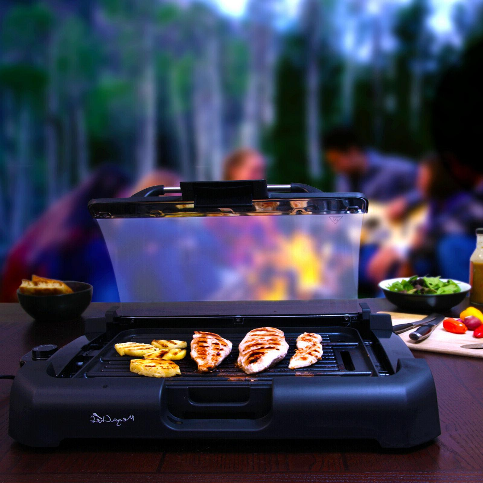 Smokeless Indoor Electric Grill Removable w/