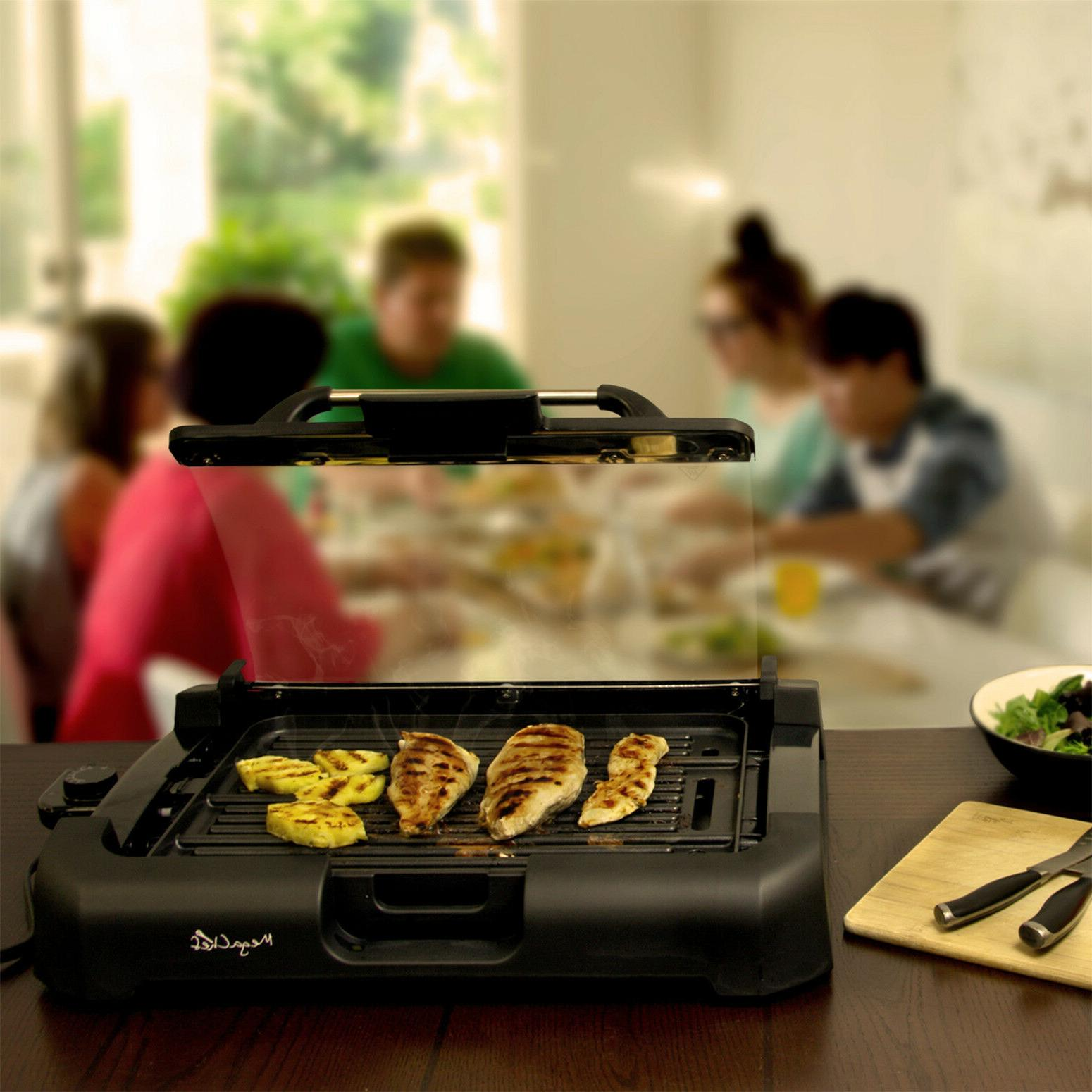 Smokeless Electric Grill 1800 Watts Removable Glass