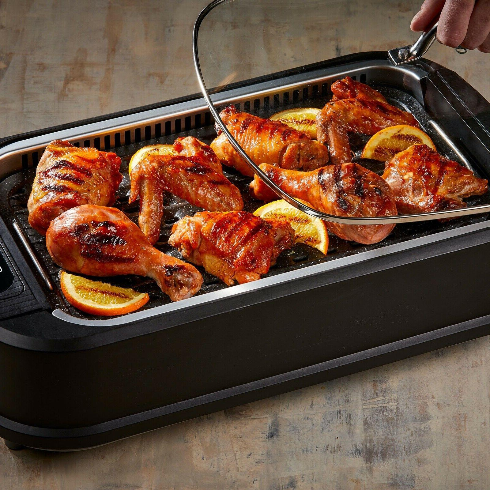 smokeless indoor electric grill cerami tech non