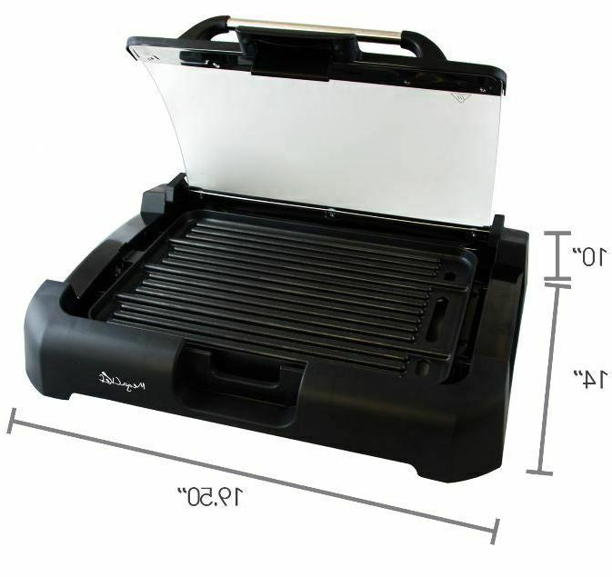 Smokeless Indoor Grill Griddle Non-Stick BBQ w/ Removable