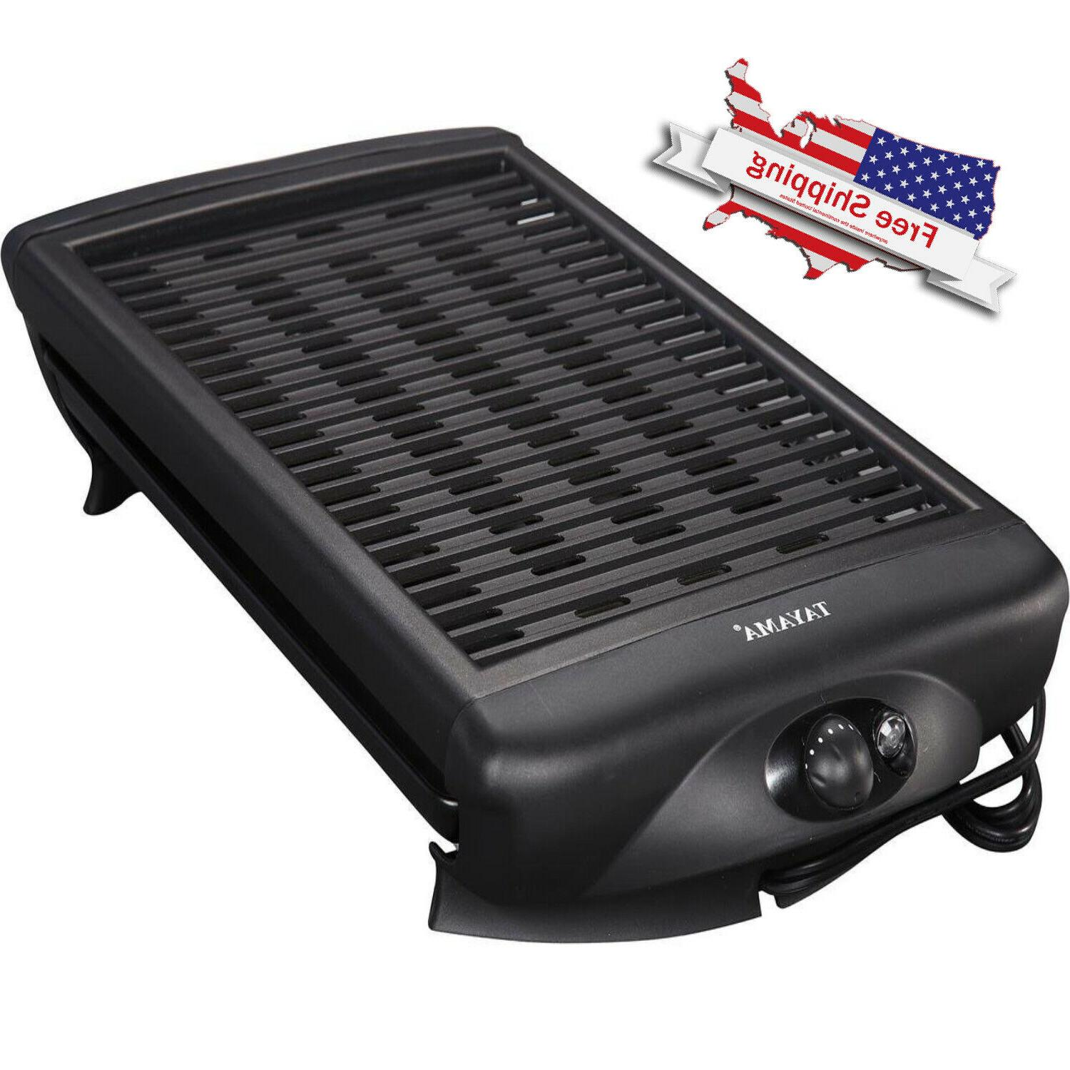 smokeless indoor electric grill non stick bbq