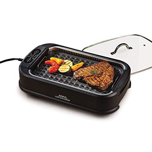 Smokeless With Tempered & Interchangeable Griddle