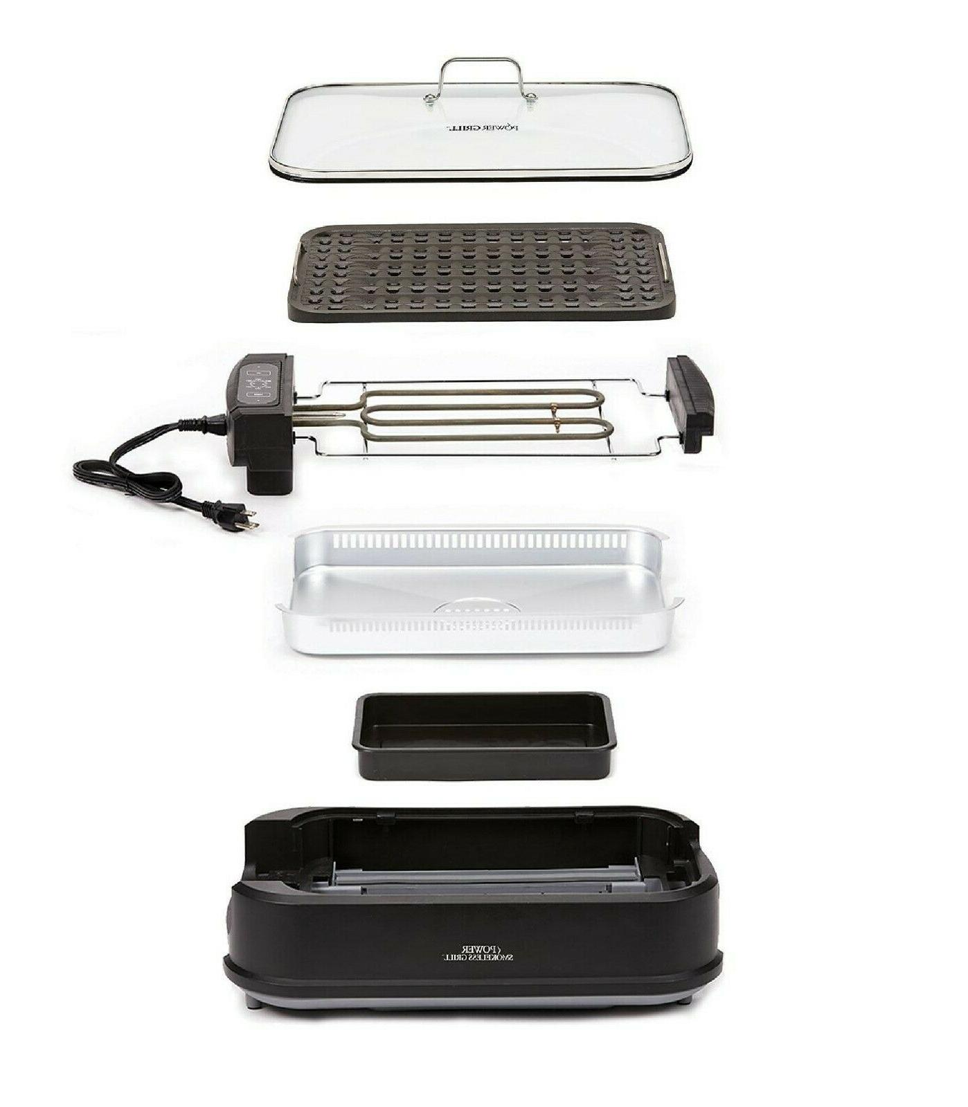 Smokeless Indoor Grill with Lid Non-Stick