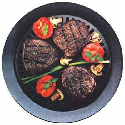 Smokeless Grill Filled Outer Black