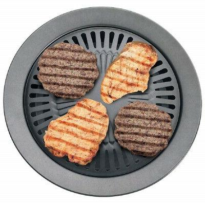 Smokeless Stovetop Grill Filled Outer Ring Black