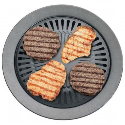 Smokeless STOVETOP Barbeque Pan Gril Tray Cooker