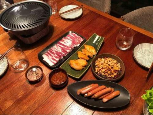 Smokeless STOVETOP BBQ GRILL Barbeque Kitchen Barbecue Pan Gril Tray