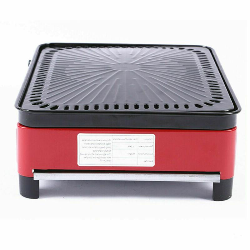 Stainless Steel Smokeless BBQ Grill Gas Stove Portable