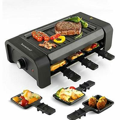 techwood electric raclette grill party bbq 1500w