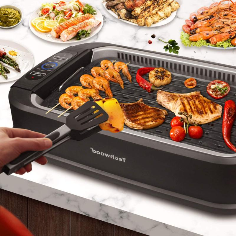 Techwood Indoor Grill Glass Lid, Compact