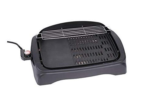 Tayama TG-863XL Non-Stick Electric Grill Ribbed Surface,