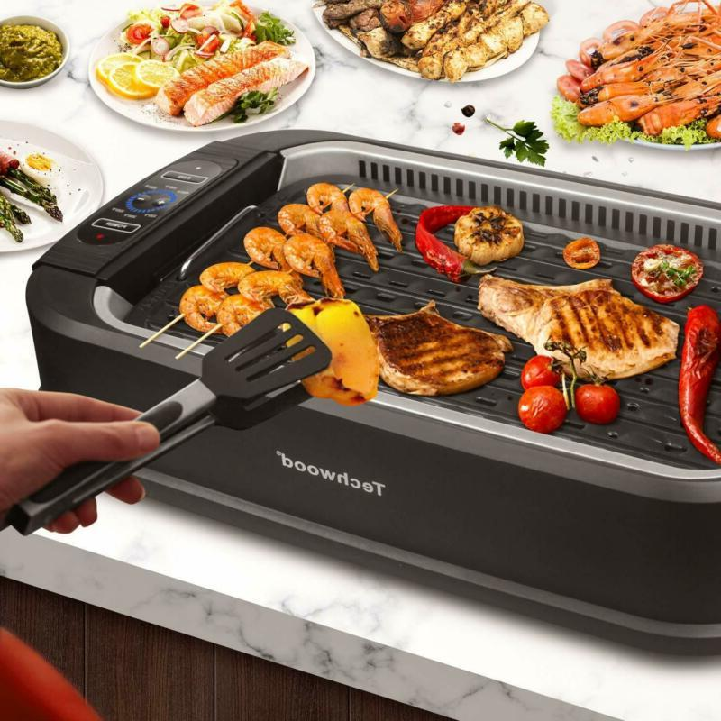 THECHWOOD Indoor Grill POWER 1500 XL Non-Stick BBQ