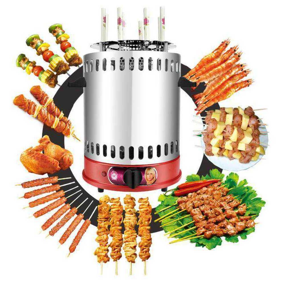 Vertical Rotisserie Roaster Smart BBQ <font><b>Smokeless</b></font> Rotating Kebab Machine Countertop 2019