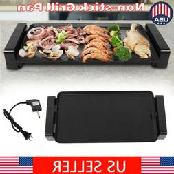 large electric griddle 2000w indoor smokeless nonstick