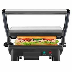 Large Panini Press Toast Maker Sandwich Grill Smokeless Indo
