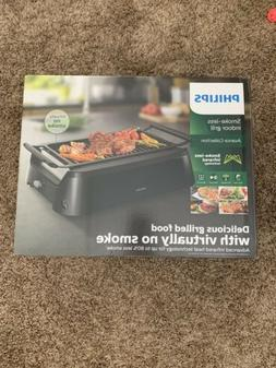 NEW - Philips Avance Collection Smoke-Less Indoor Grill - Bl