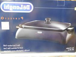 "NEW Delonghi BG24 Perfecto Die Cast Indoor Grill 16"" X 12"""