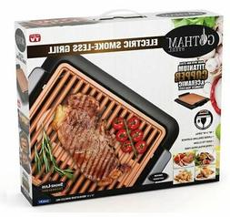 New Gotham Steel Deluxe XL Electric Smoke-Less Indoor Grill