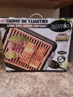 NEW GOTHAM STEEL ELECTRIC INDOOR GRILL BBQ SMOKE-LESS NON-ST