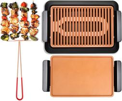 NEW  Smokeless Electric Grill, Griddle, and Pitchfork, Indoo