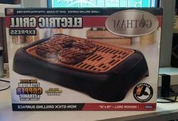 NEW Gotham Steel Smokeless Electric Indoor Grill Nonstick Po