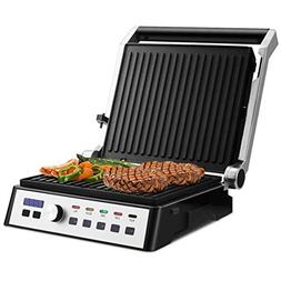 Cypressshop Non Stick Electric Grill Barbeue BB Indoor LCD D