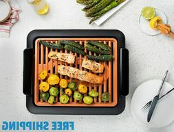 Smokeless Electric Grill Non-Stick Steel Of Ceramic Surface/