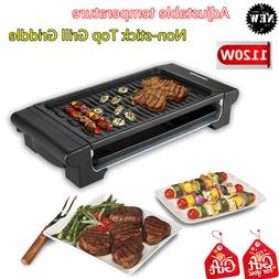 Nonstick Smokeless Electric Grill Griddle BBQ Indoor Barbecu
