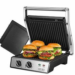 DEIK Panini Press, 6-in-1 Smokeless Indoor Grill with Timer