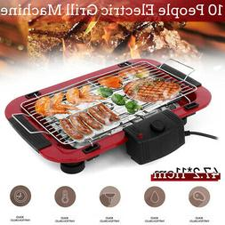 Portable Electric BBQ Grill Griddle Indoor Outdoor Smokeless