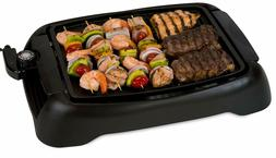 SIG-1 Contact Grills Indoor Smokeless BBQ Grill, Black Elect