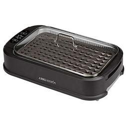 Smokeless Indoor Electric Grill With Tempered Lid & Intercha