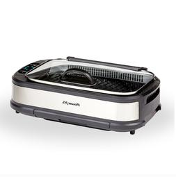 PowerXL Smokeless Grill Plus with Tempered Glass Lid and Tur