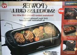 PowerXL Smokeless Grill with Tempered Glass Lid, Brand New
