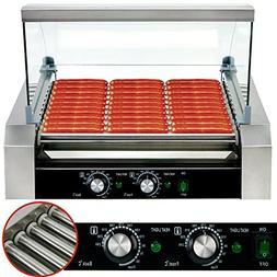 Safstar Commercial 30 Hot Dog 11 Roller Machine Stainless St