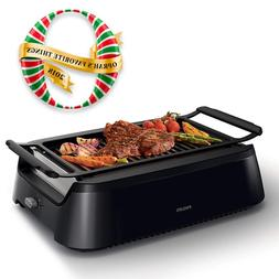 smoke less indoor bbq grill avance collection