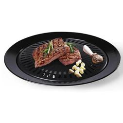 Smokeless Black Indoor Home BBQ Cooker Barbecue Non Stick Gr