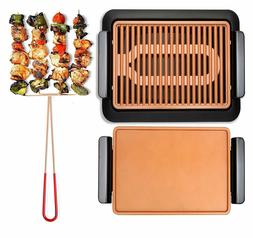 Smokeless Electric Grill, Griddle, and Pitchfork, Indoor BBQ
